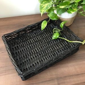 Vintage Boho Wicker Basket
